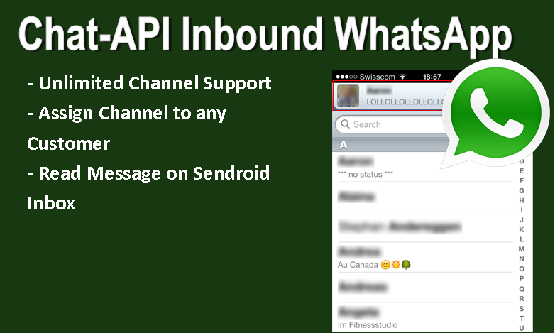 Chat-api Inbound WhatsApp Add-on